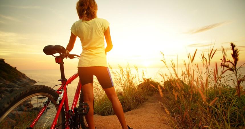 Lady with a bike